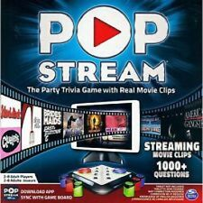 SpinMaster Pop Stream Party Trivia Game w/Real Movie Clips 1000+ Questions