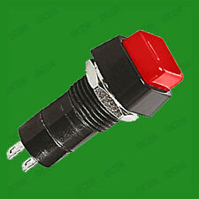 Red Square Large Latching Project DIY Switch, On Off, 2 Pins, 3A DC, 250Vac 1A