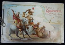 1988 Vintage Allen & Ginter Album of Quadrupeds Tobacco Cards