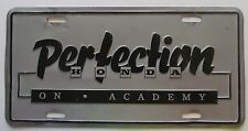 1990's ALBUQUERQUE NM's PERFECTION HONDA ON ACADEMY BOOSTER License Plate