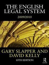 The English Legal System 2009-2010 by Gary Slapper and David Kelly (2009,...