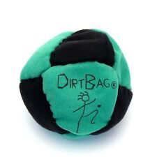 Dirtbag 8 Panel Footbag Hacky Sack Kick Ball Green Black Sand Filled Microsuede