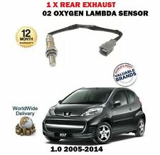 FOR PEUGEOT 107 1.0 2005--  REAR LOWER POST CAT EXHAUST O2 OXYGEN LAMBDA SENSOR