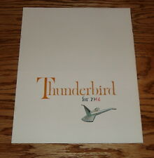 Original 1961 Ford Thunderbird Foldout Sales Brochure 61 T-bird