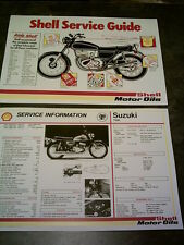 Suzuki T500 Twin-Shell servicio Hoja