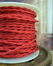 Red Cloth Covered Twisted Wire Lamp Cord Pendant Light-Steampunk Lamp Retro Cord