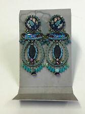 *** NUOVO *** Ayala Bar Orecchini a bottone, lunghezza: 7,5 cm, colore: Turchese/Blu