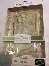HTC ONE M9 CASE-MATE Barely There Protector Case - Clear CM032371 Brand New pack