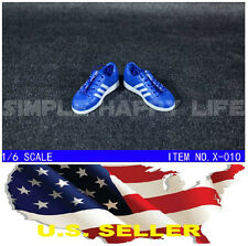 """NEW 1/6 shoes Adidas style blue color men sneaker for 12"""" figure hot toy USA"""