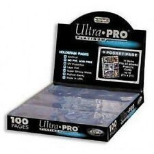 1 Case of 1000 Ultra Pro PLATINUM 9 Pocket Card Page Sheet Case