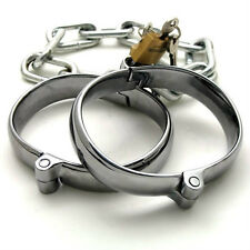 Steel Handcuffs Metal ankle Restraint Cuffs AAAHL