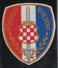 CROATIA  ARMY - HVO-  BATTALION POSUŠKI VITEZOVI   Large HEADCOMMAND wall patch