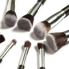 10pcs Kabuki Style Professional Make up Brush Set Foundation Blusher Face Powder