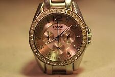 Beautiful Ladies / Women's  Ceramic  Chronograph Fossil Watch Quartz
