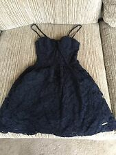 Abercrombie & Fitch navy blue Lace dress
