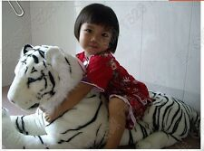 Giant stuffed animal toys white south china tiger plush soft Toy Doll gift 90cm