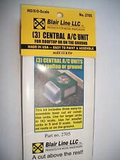 Blair Line Laser Cut HO Scale Central A/C Unit 3 pk  #2705 Bob The Train Guy