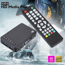New Full 1080P HD Multi Media Player TV BOX 3 outputs HDMI/VGA/AV USB &SD card
