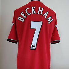Manchester United Home Football Shirt Adult Large BECKHAM #7 2000/2002