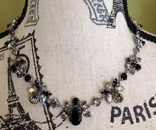 CAROLEE Rhinestone Necklace & Earring Set, Brilliant Ex. Cond. Throughout See!!!