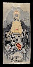 santino manufatto ricamato su seta 1900 N. SIGNORA DI MONTSERRAT