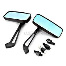 Rectangle Black Motorcycle Rear View Mirrors For Vespa GTS GTV 250 300