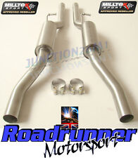 AUDI S4 B7 4.2 V8 MILLTEK EXHAUST RESONATED CENTRE SECTIONS MSAU177 & MSAU178