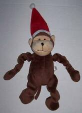 """Monkey Squeaky dog toy with Santa Hat 13"""" long Christmas"""