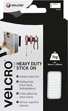 Velcro Heavy-Duty Stick On Tape 50mm x 100mm x 2 Sets White VEL60240
