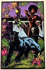 1970s Foxy Lady and the Panther black light poster replica magnet - new!