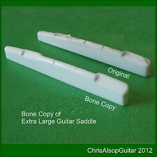 Oversized Bone Guitar Saddle Copy or from dimensions Made by Chris Alsop  PS031w