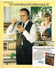 Publicité Advertising 1978 La préparation pour Mousse au chocolat Alsa