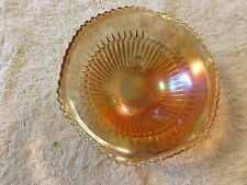 Carnival Glass Amber Color Candy Dish