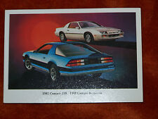1982 CAMARO Z28 and Berlinetta Coupe Dealer POST CARD Chevrolet Chevy