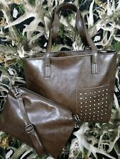 New Leather  Sling Bag & Tote Set