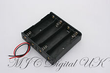 PLASTIC BATTERY STORAGE 4 SLOT CASE BOX HOLDER for 4 x 18650 WIRE LEADS UK STOCK