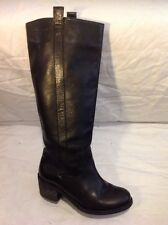 Office London Black Knee High Leather Boots Size 36