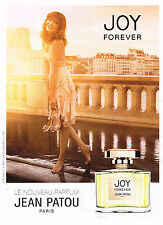 PUBLICITE ADVERTISING 124  2014   JEAN PATOU le nouveau parfum JOY FOREVER