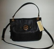 MICHAEL KORS Stockard Medium Convertible Black Leather Handbag   NEW