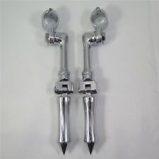 "Chrome Stick Footpeg For Honda Yamaha Suzuki Kawasaki 1.5"" Engine Guard"