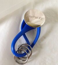 PayPal Key Chain Blue and Silver Twist Lock eBayana for 3 Sets of Keys