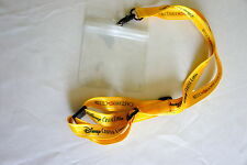 DISNEY CRUISE LINE CASTAWAY CLUB GOLD LANYARD with Plastic ID Holder