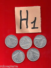 lotto 10 lire repubblica italiana italy 5 monete coins 1955 1979 1980 81 1982