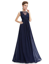Ever Pretty Navy Blue Bridesmaid Dress Formal Evening Party Gown 08715 UK Sz 10