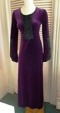 VINTAGE CYKXTEES PURPLE & BLACK MEDIEVAL GOWN - MEDIUM - FREE PRIORITY SHIPPING