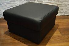Echtleder Hocker 50x50 aufklappbar mit Stauraum SitzHocker Rindsleder Sitzwürfel