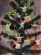 Vintage Crochet Pattern Christmas Angels Tree Decorations