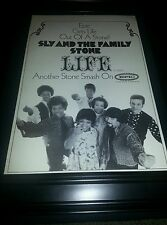 Sly and The Family Stone Life Rare Original Promo Poster Ad Framed!