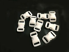"12pcs 3/8"" Curved Side Release Plastic Buckle  for Paracord Bracelet White color"