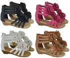 NEW KIDS GIRLS FASHION SUMMER BEACH SANDALS INFANTS CHILDREN FLOWER SHOES SIZE